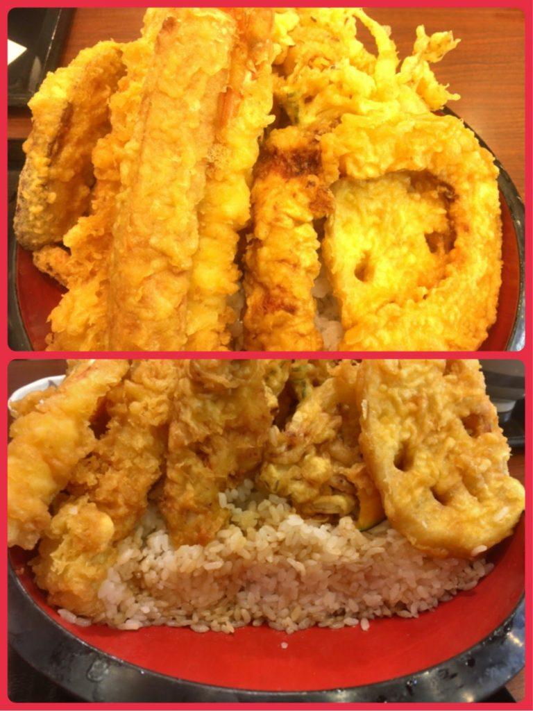 丸亀製麺 のジャンボ天丼中身