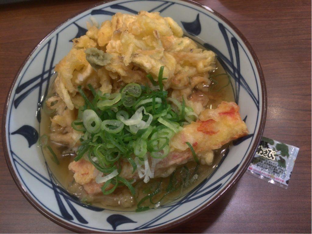 丸亀製麺 ジャンボ天丼〆の天茶