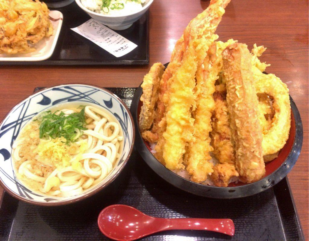 丸亀製麺 のジャンボ天丼