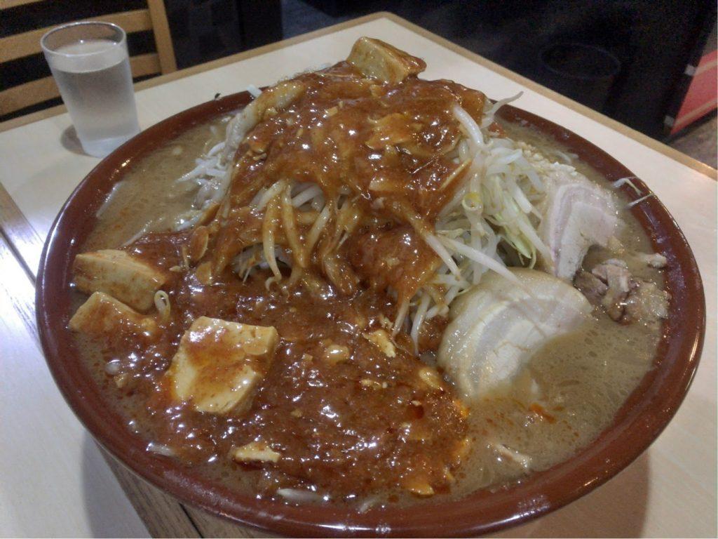 火の豚のフュージョン大麺マシ1000g全マシ