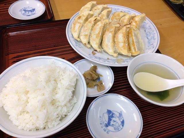 満州のダブル餃子定食