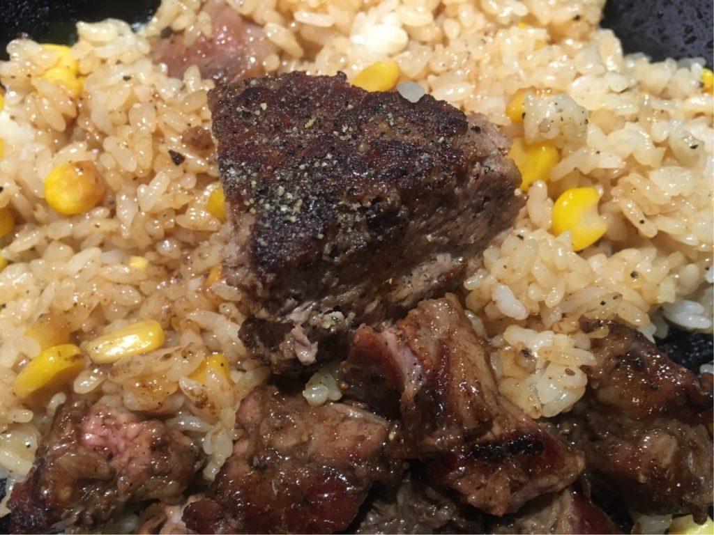 いきなりステーキのガーリックライス作り方4