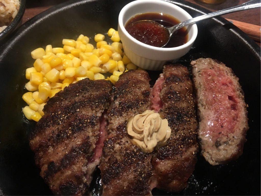 いきなりステーキのハンバーグ300g