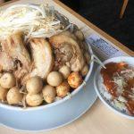 【大盛り】蒙麺 火の豚 久喜市 まぜそば大と火麻婆飯~辛いうずら大量トッピングで残暑も乗り切ろう~【約2k】