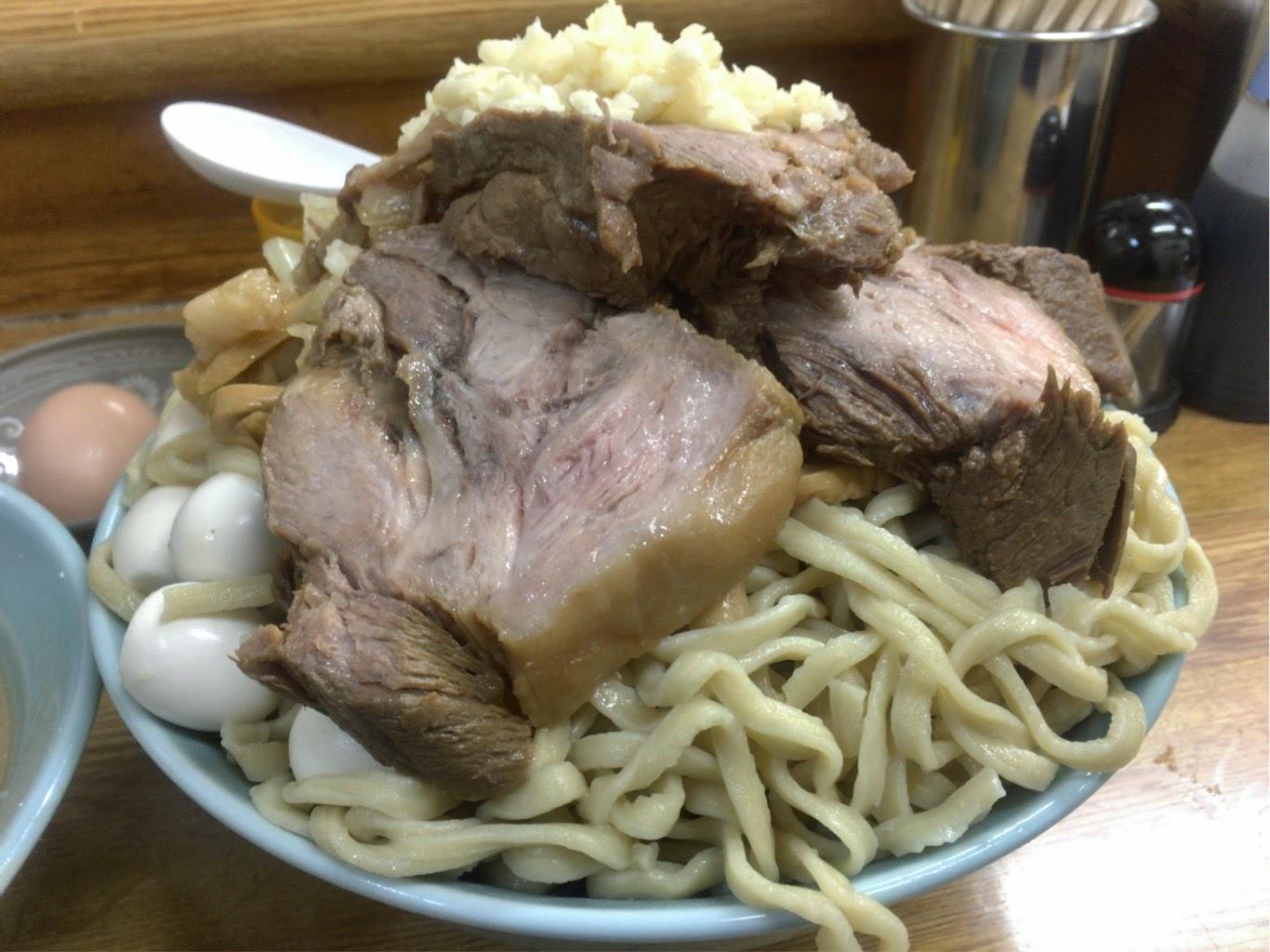 ラーメンそらつけ麺豚増し豚アップ