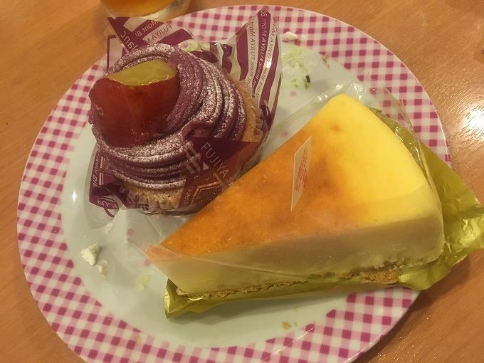 紫いものモンブラン、北海道なめらかチーズケーキ