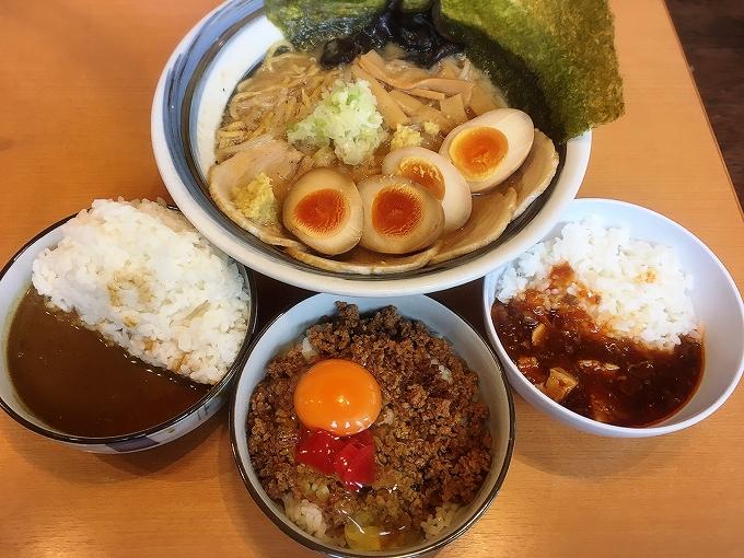札幌ラーメン大地、ラーメン+セルフ丼