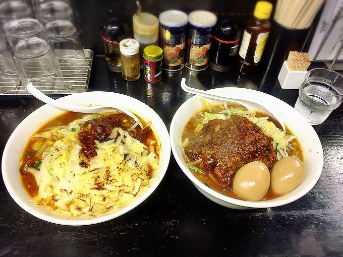 インドタンメン3玉野菜増し+味玉2+チーズ