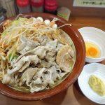 【デカ盛り】ラーメン ジライヤ 熊谷市 限定ブタキムラーメンハイパー(麺900g)豚バラどっさり+固さMAX麺を喰らう!!【座敷あり】