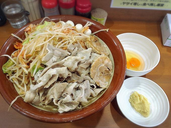 ラーメン ジライヤ 熊谷市 限定ブタキムラーメンハイパー(麺900g)
