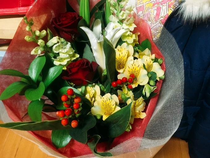 送別会の花