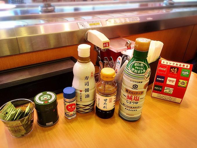 かっぱ寿司、卓上装備