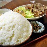 【デカ盛り】かもだ 川越市 定食の大盛りご飯は白く高さのある絶景☆埼玉産コシヒカリを豚肉と野菜炒めで堪能【美しい】