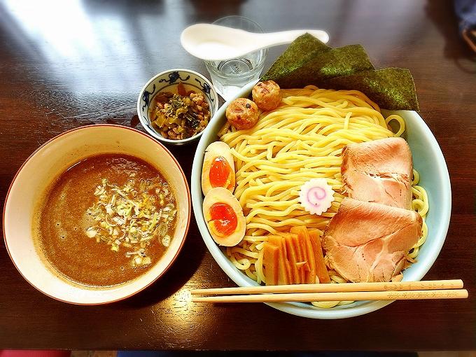 【デカ盛り】麺処 はなぶさ 川越市 特製つけ麺1000g☆高菜納豆