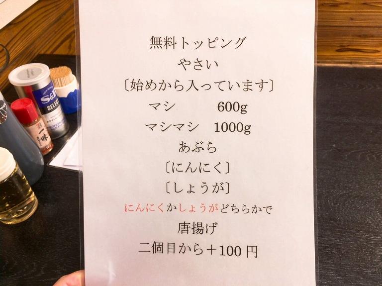 【デカ盛り】藤ろう 加須市 無料トッピングにから揚げがのるガッツリ系☆麺マシ800gで注文