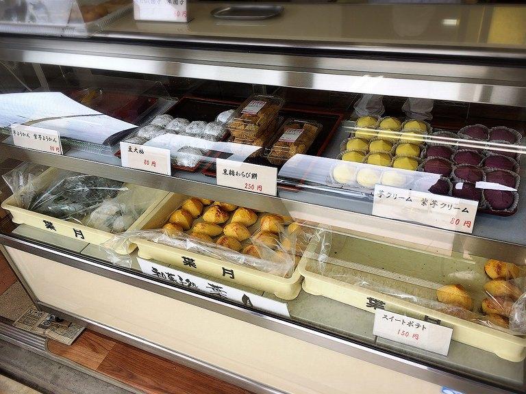 【路地裏】和菓子処 葉月 工場直売所 草加市 黒糖わらび餅やスイートポテトを購入【芋系が多め】