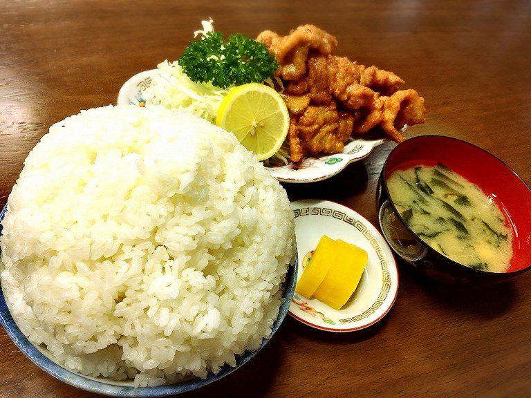 【デカ盛り】味のイサム 羽生市 日本で唯一のぶたからをW定食で注文☆ご飯大盛りの量に注意報発令【元祖】