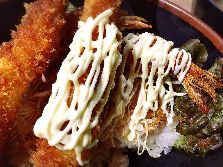 【大盛り】よ~いDON パサール羽生 メガ海老フライ丼990円☆パーキングで食べられるちょっとしたデカ盛り♪