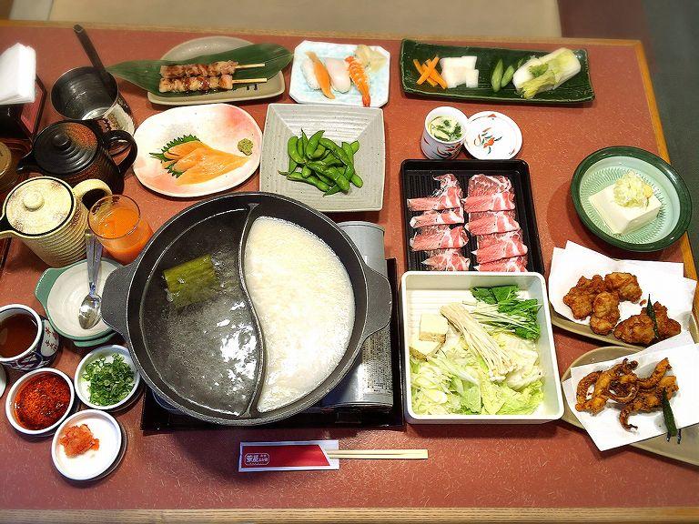 【チェーン店】華屋与兵衛のしゃぶしゃぶ食べ放題プレミアムコースで一品料理も☆寿司からデザートまで【豊富】