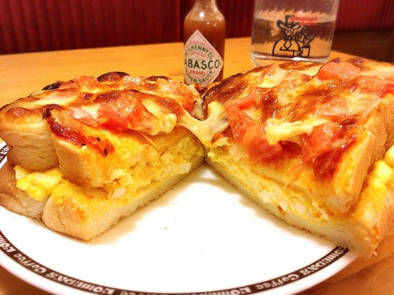 【チェーン店】コメダ珈琲 たっぷりたまごのピザトーストはカロリーを無視したコラボメニューだった♪【カフェ】