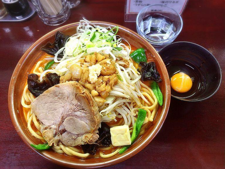 【デカ盛り】僕との麺 味噌オロチョンラーメンと汁なしのダブル食い☆寒い日に食べたい一杯【ちょい辛】