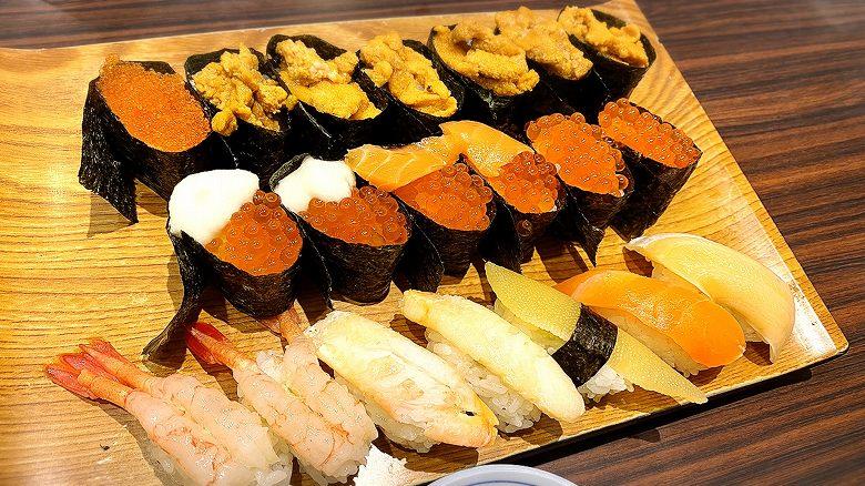 【120分】雛鮨 高級寿司食べ放題3990円ウニやイクラなどネタを実食紹介【茶碗蒸し付き】