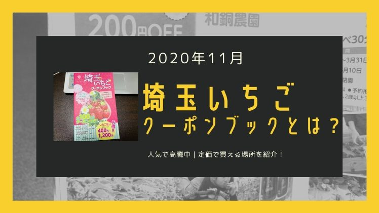 【お得な冊子】埼玉いちごクーポンブックとは?高騰しても定価で買える場所も紹介【最新情報】