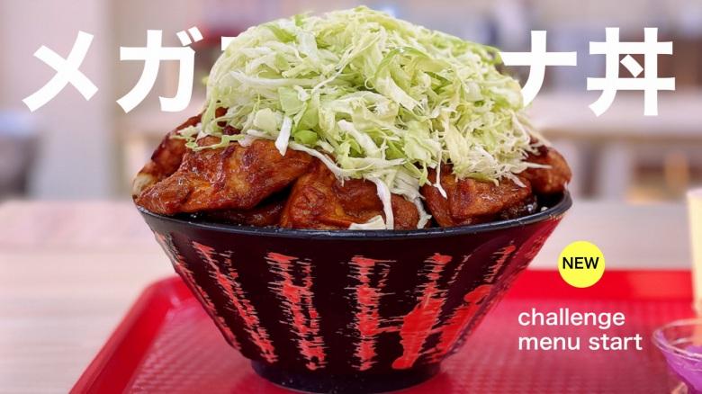 【第2弾】カロリー&オイリー チャレンジメニューのメガスタミナ丼に挑戦!【30分完食成功】