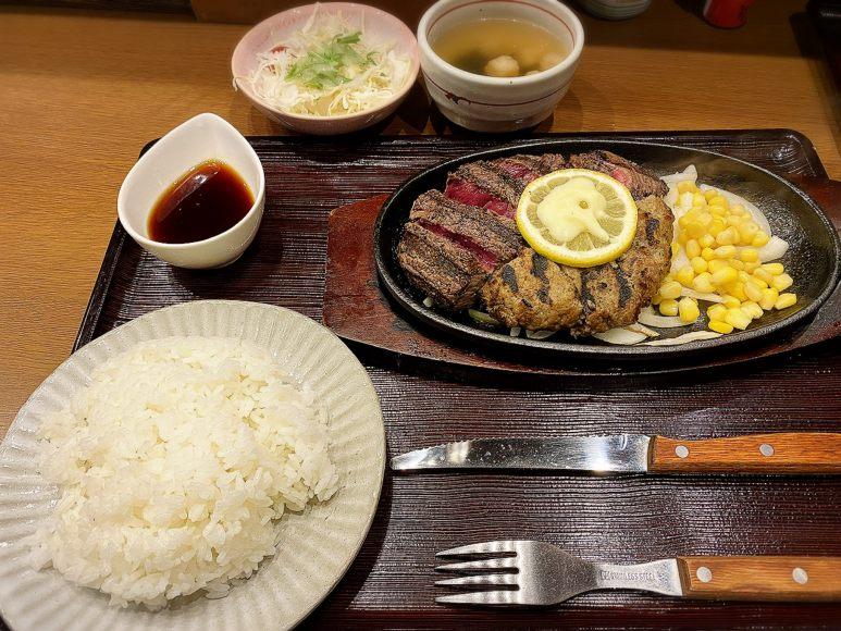 【焼鳥でお馴染み】小江戸ステーキ&うどんビッグ 川越市 肉と大きなかき揚げを食す!